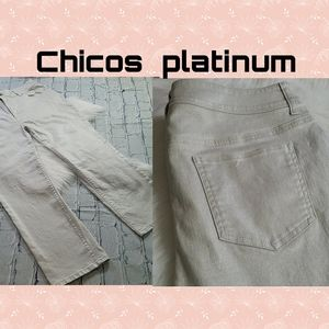 CLOSING Like New Chicos Platinum Cropped